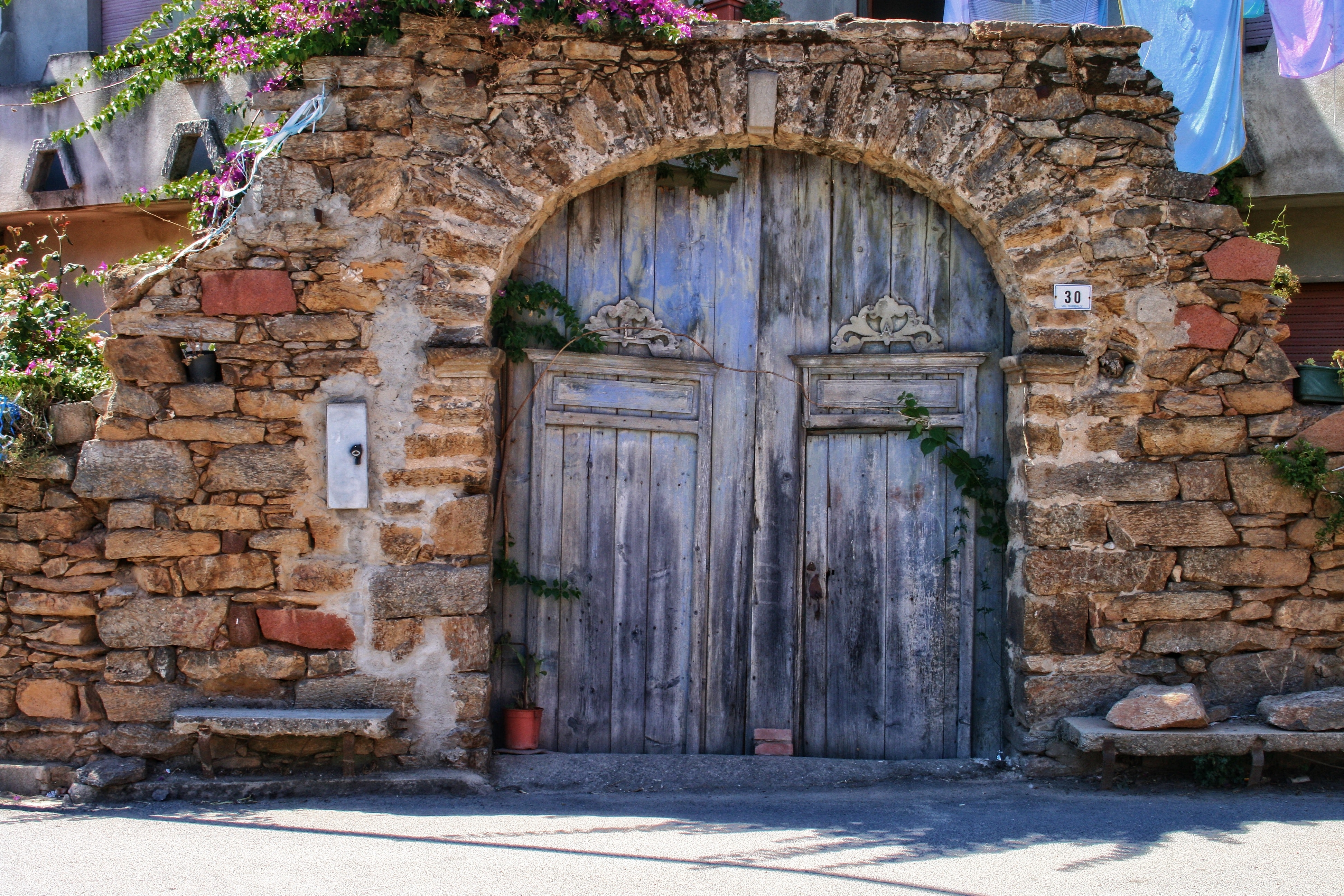 An old wooden door in Sardinia