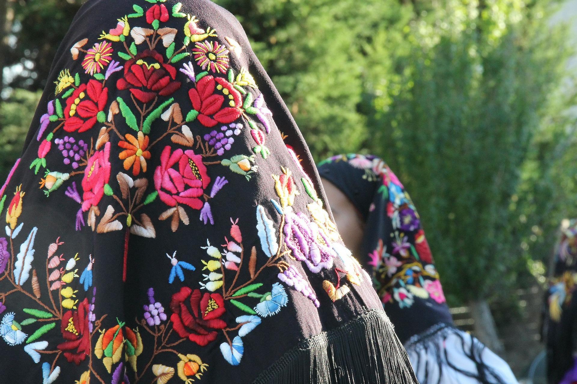 Traditional Sardinian veil.