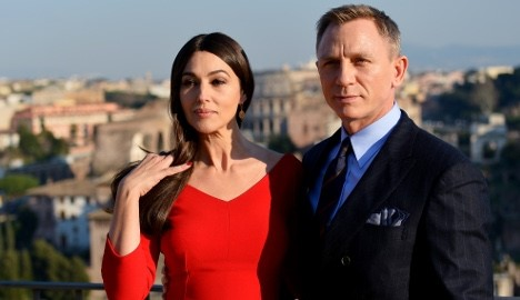 Daniel Craig and Monica Bellucci filming James Bond Spectre in Rome Essential Italy