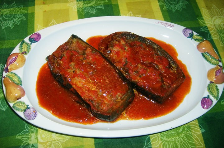 Melenzane ripiene stuffed aubergines antipasti food for our villas in Puglia Essential Italy