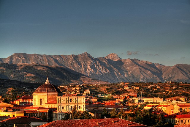 City of L'Aquila near our villas in Abruzzo Essential Italy