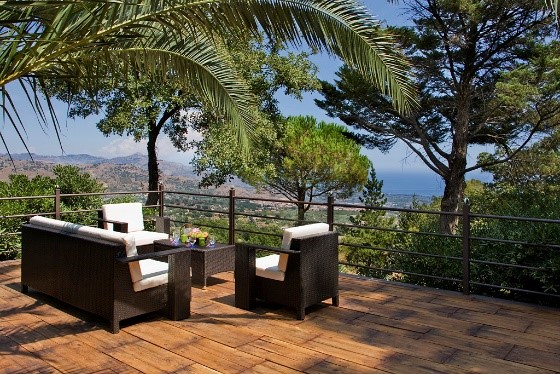 Views from terrace at Villa Scozilia special offer luxury holidays in Sicily Essential Italy