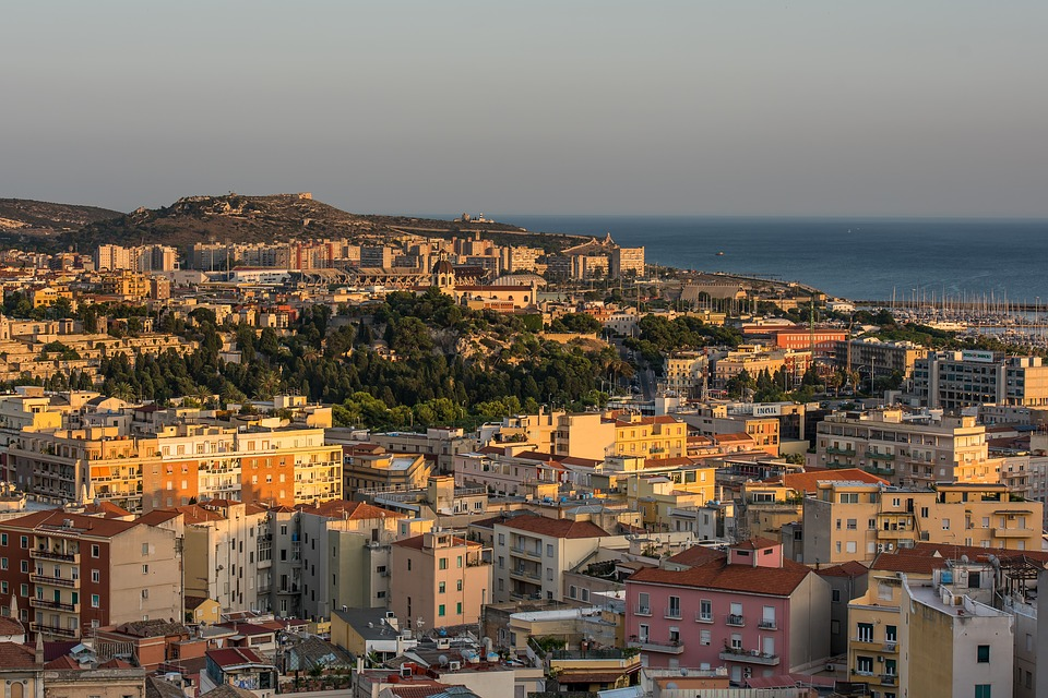 Cagliari during sunset