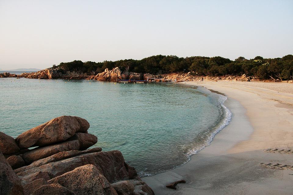 A beach in Capriccioli, Sardinia