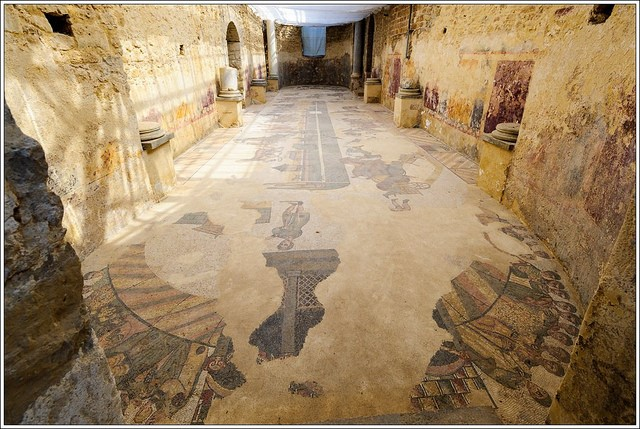 Mosaics at Piazza Armerina visit while staying at Essential Italy's holiday apartments in Sicily