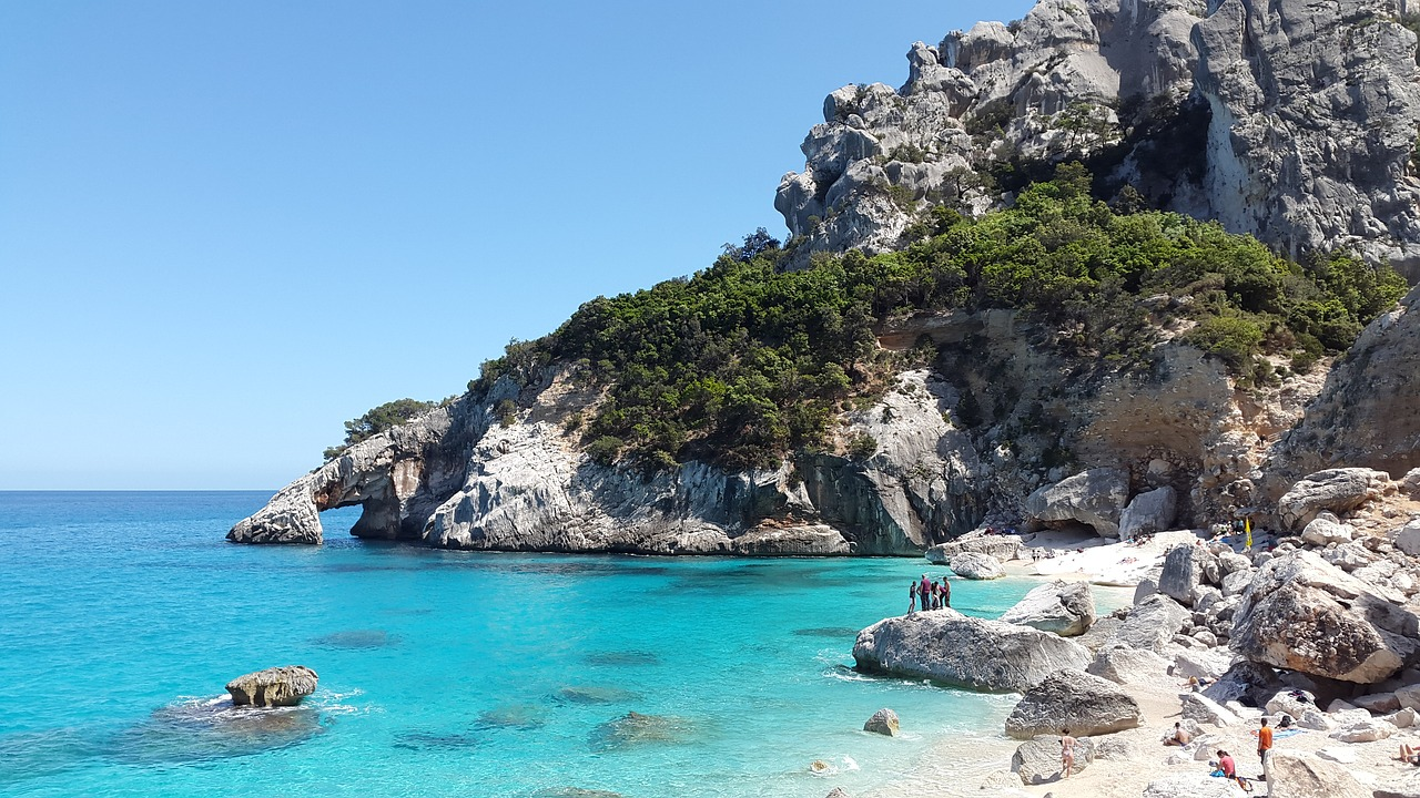 Cala Goloritzè beach near our villas in Sardinia.