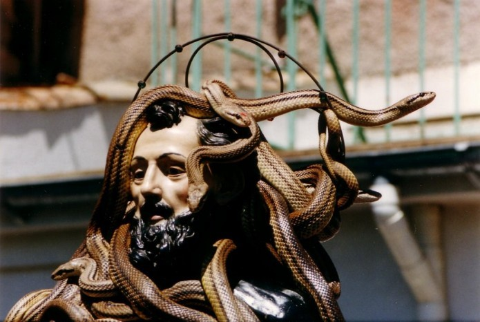 Snake handler's procession event Cocullo near our villas in Abruzzo Essential Italy