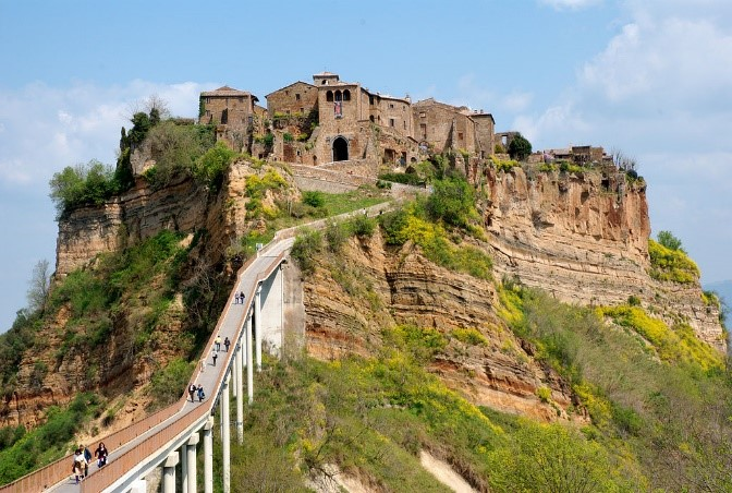 Civita di Bagnoregio, abandoned city in Tuscany, Italy