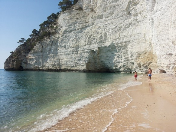 Beach at Mattinata, Puglia, near our Essential Italy luxury holiday accommodation