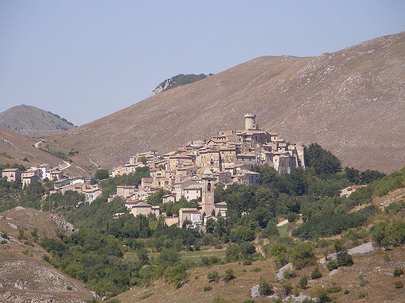 Santo Stefano di Sessario, abandoned city in Abruzzo, Italy