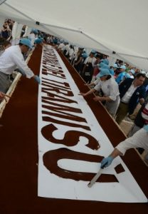 World's largest tiramisu made near our apartments to rent in Italy