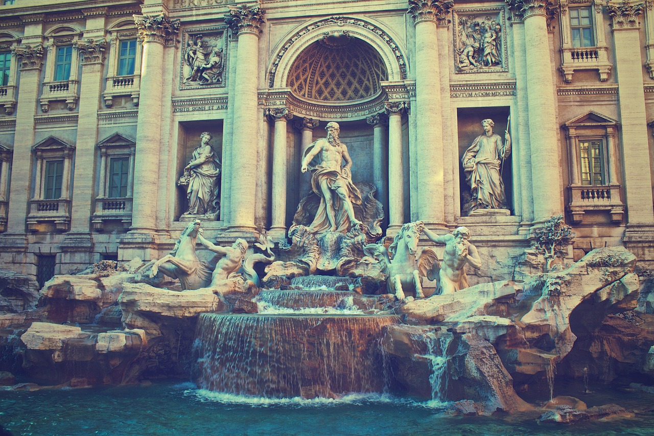 travi fountain in Italy