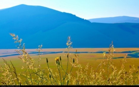 Sunrise at the Valley of Castelluccio di Norcia, Umbria
