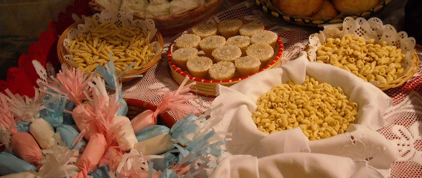 Local pasta and pastries enjoyed on a holiday staying in Sardinia villas