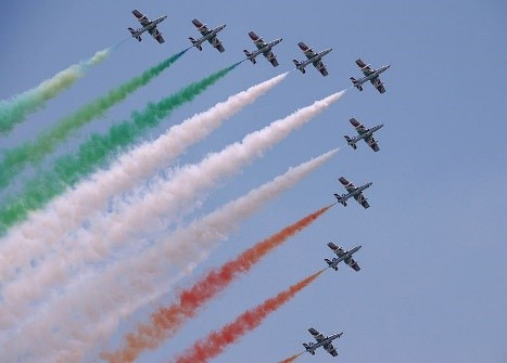Frecce Tricolori celebrating Republic Day in Italy