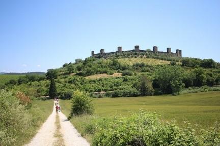 Via Francegina ancient pilgrim road near our villas in Tuscany