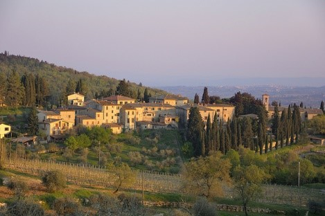 Village in the Chianti region near Essential Italy luxury villas in Tuscany