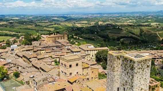 San Gimignano near Essential Italy luxury villas in Tuscany