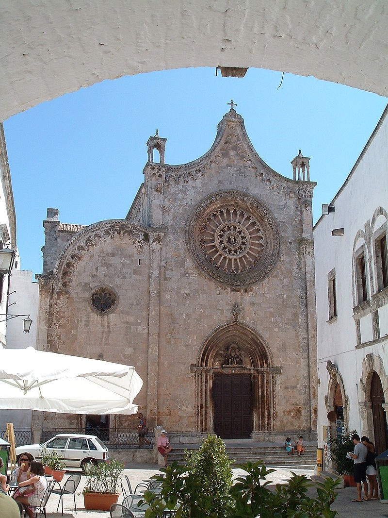 Ostuni cathedral, where the parade in honour of Sant'Oronzo begins
