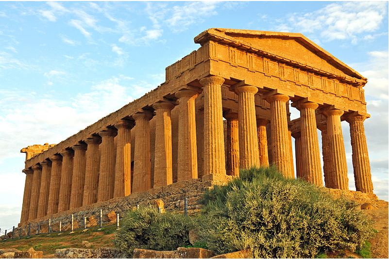 Temple of Concordia in the Valley of the Temples, Sicily, Italy