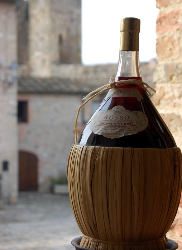 Chianti wine sampled by visitors on our holidays in Tuscany