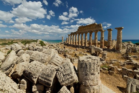 The ancient Greek city of Selinunte in Sicily