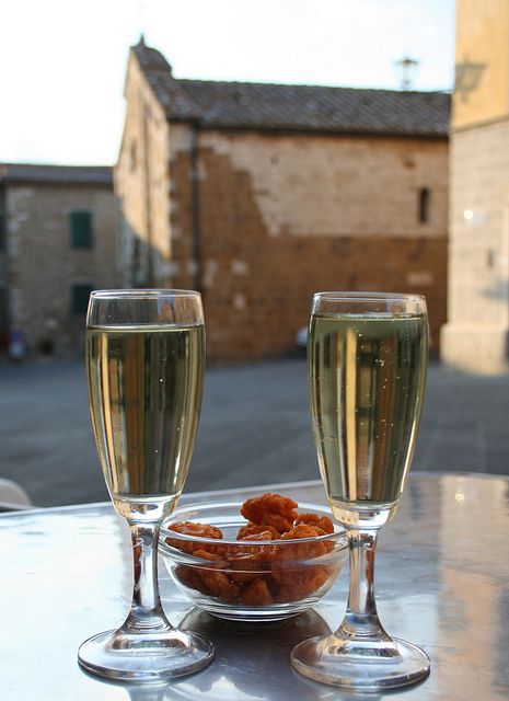 Sample some delicious white wine while staying at our Sicily villas