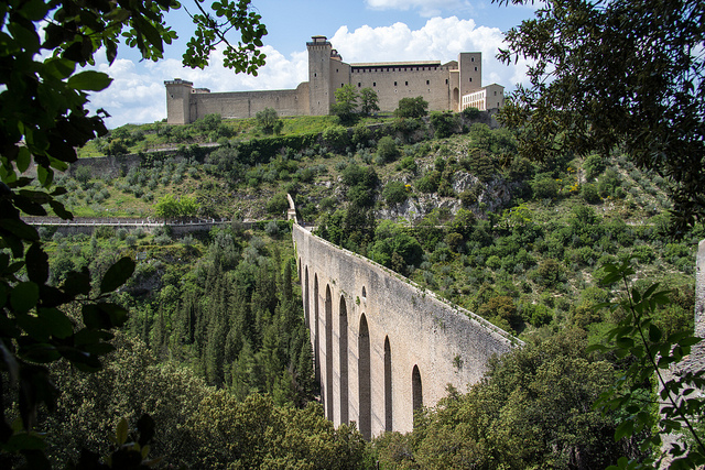 La Rocca in Spoleto near our Umbria holiday villas