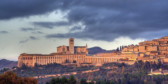 Basilica of St Francis in Assisi near our Umbria apartments