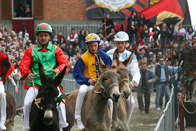 Palio dei Somari in Tuscany, taking place near our Italian villas