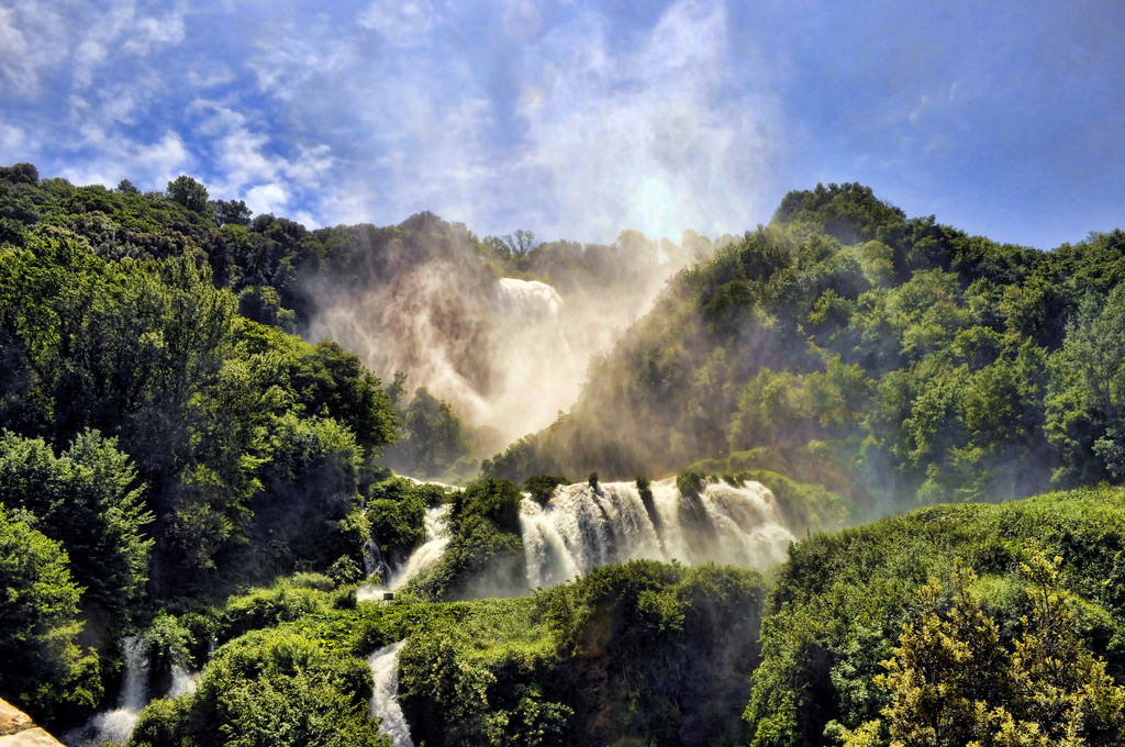 In the midst of the stunning Nera River Park lies the Marmore Falls, one of Umbria's most beautiful attractions: