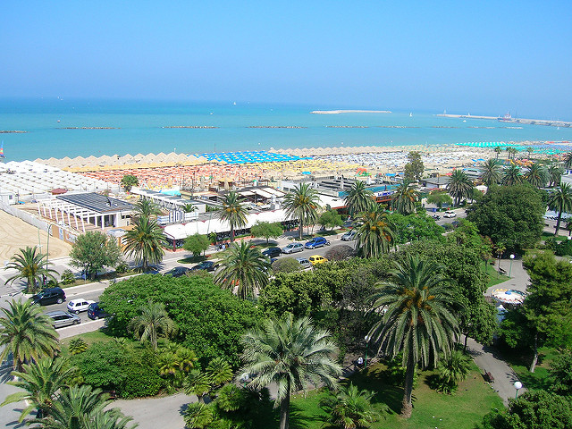 The beach of Pescara near our villas in Abruzzo