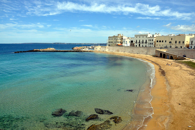 The historic coastal city of Gallipoli near our Puglia villas