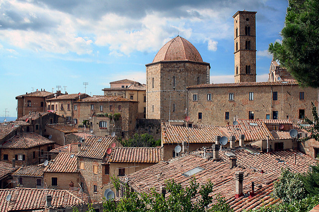 Hilltop town of Volterra near our Tuscany hotels