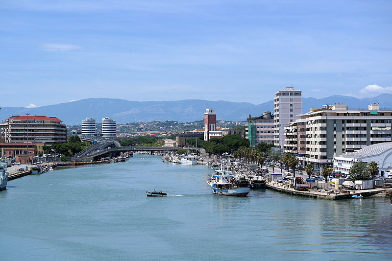 The city of Pescara near our villas in Abruzzo