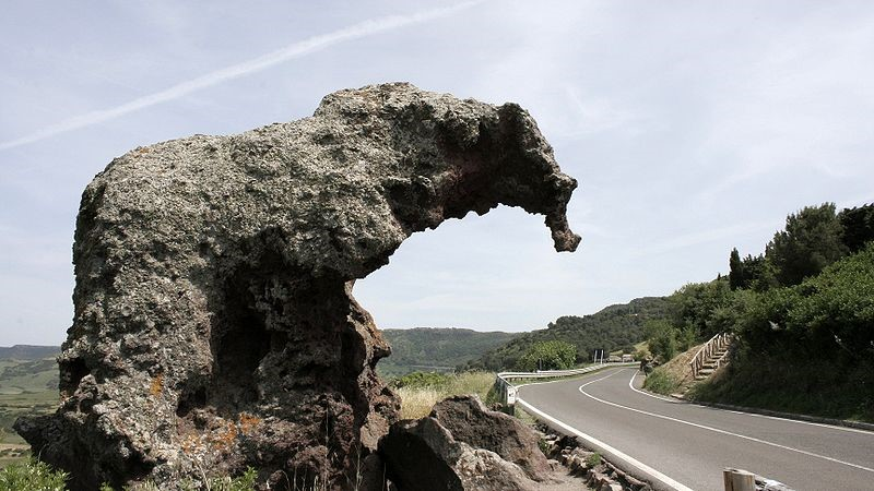 Elephant rock near our Sardinia hotels