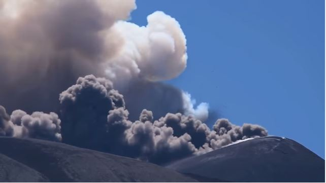 Mount Etna near our villas in Sicily erupts again