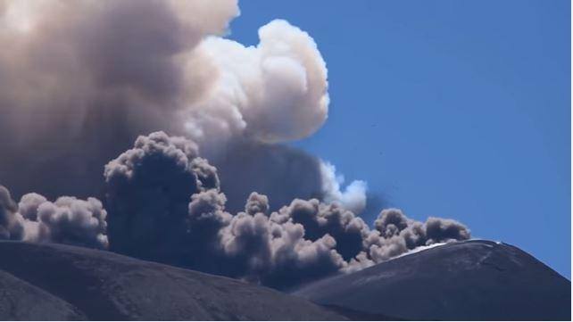 Mount Etna near our villas in Sicily erupts again