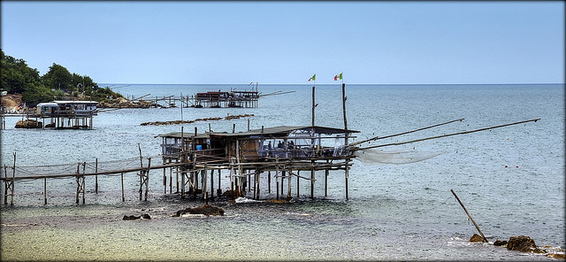 A trabocchi in Ortona near our Essential Italy Abruzzo accommodation