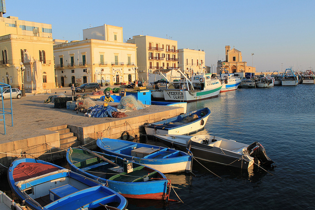 Gallipoli, home of the Feast of Santa Cristina, near the best places to stay in Puglia