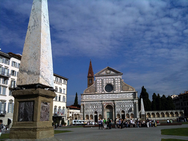 Piazza Santa Maria Novella in Florence near our luxury villas in Tuscany Italy