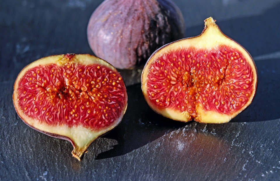 Sweet figs grown in Italy in autumn