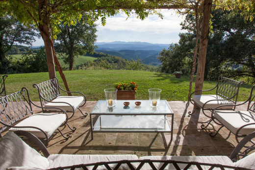 Sit down for stunning views over countryside in the villas in Italy.