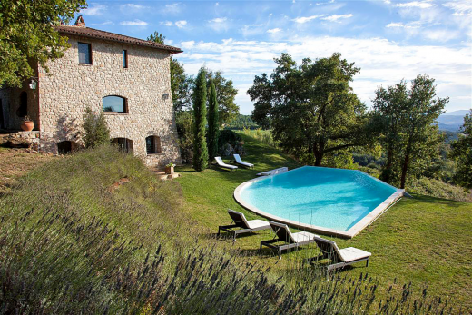 Villas in Italy include stunning villas with pools in Umbria.