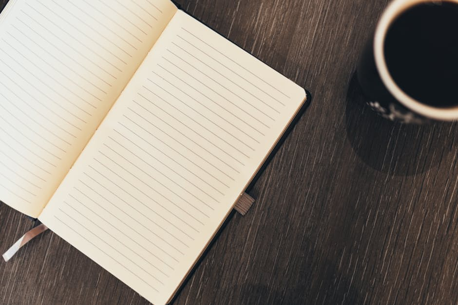 lined notepad with to write wine tasting notes