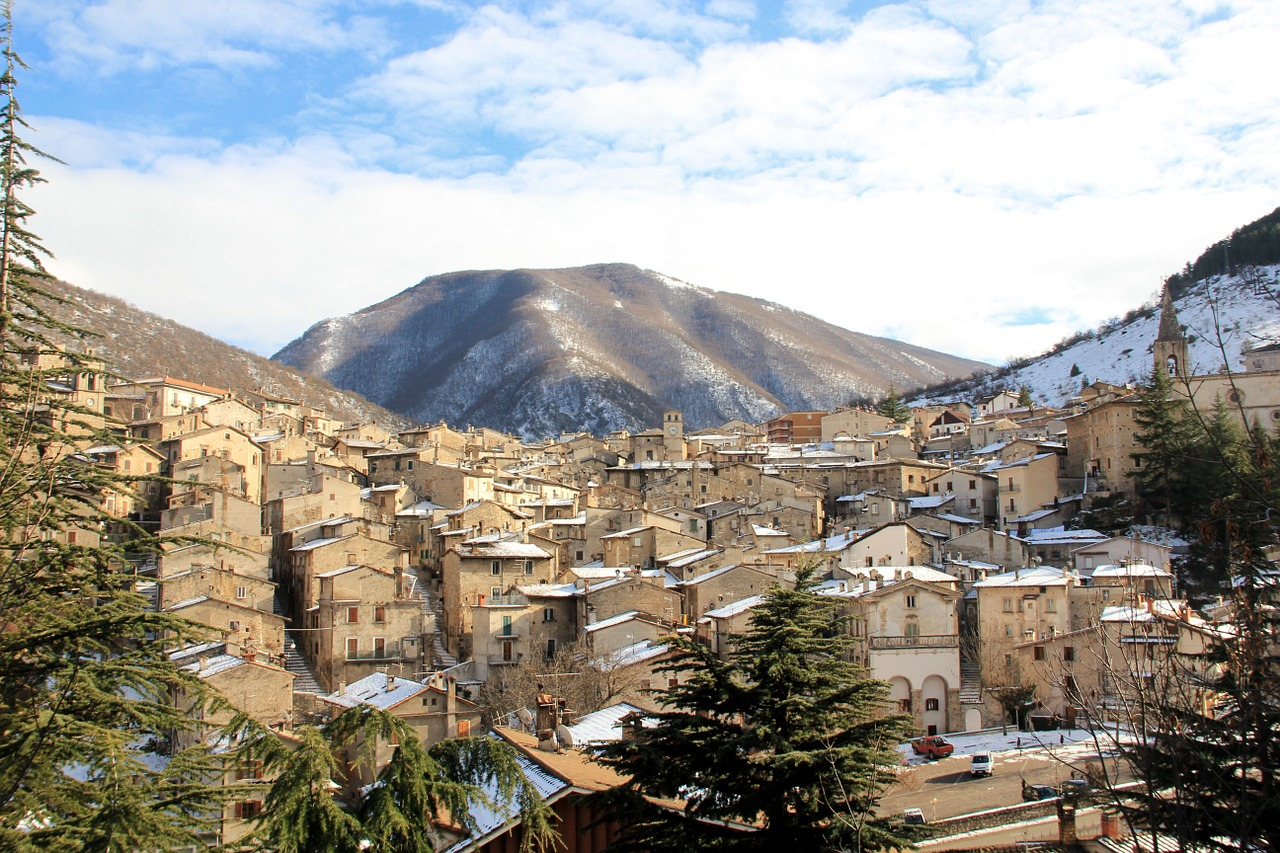 A view of a town in Abruzzo