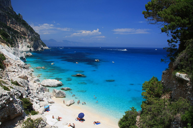Views over Sardinia beach near our Sardinia luxury villas.