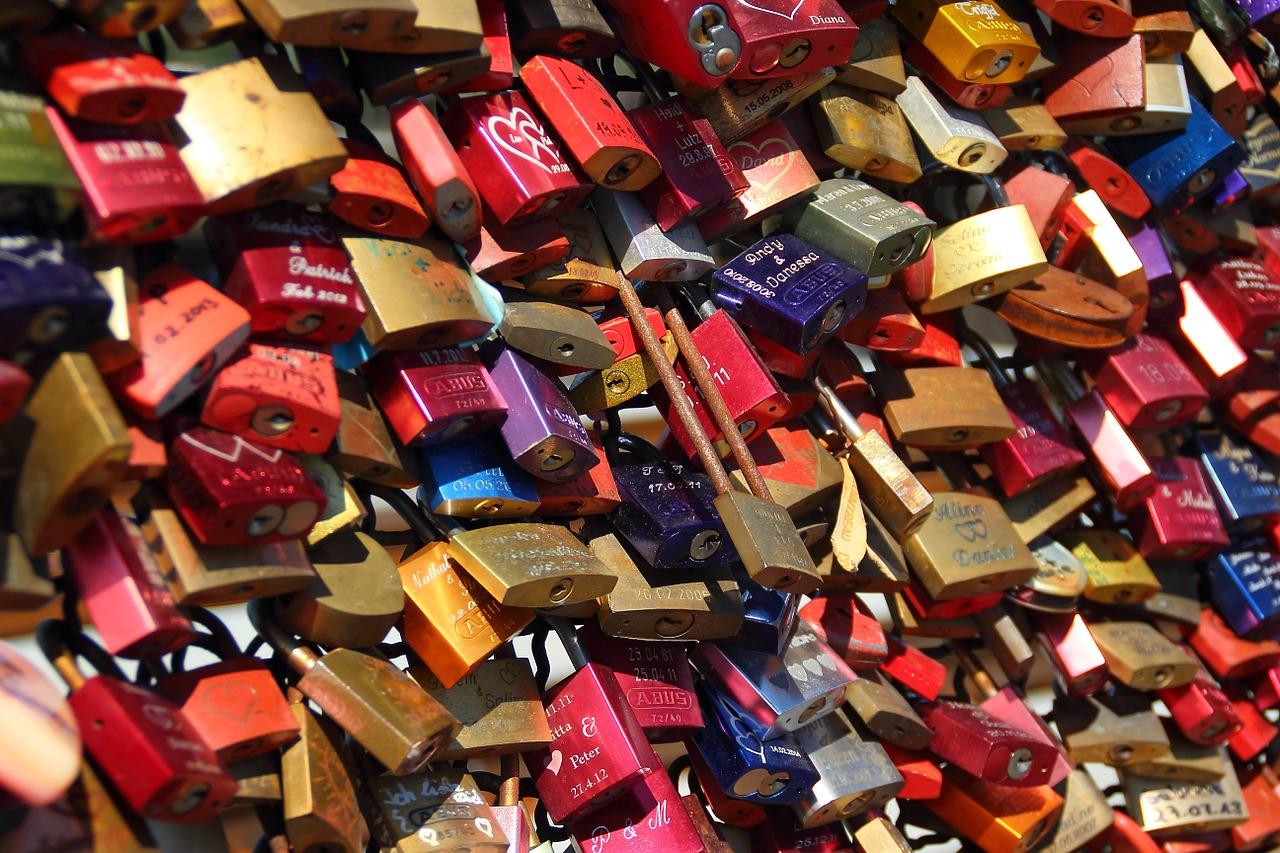 lovelocks on a bridge in ITaly