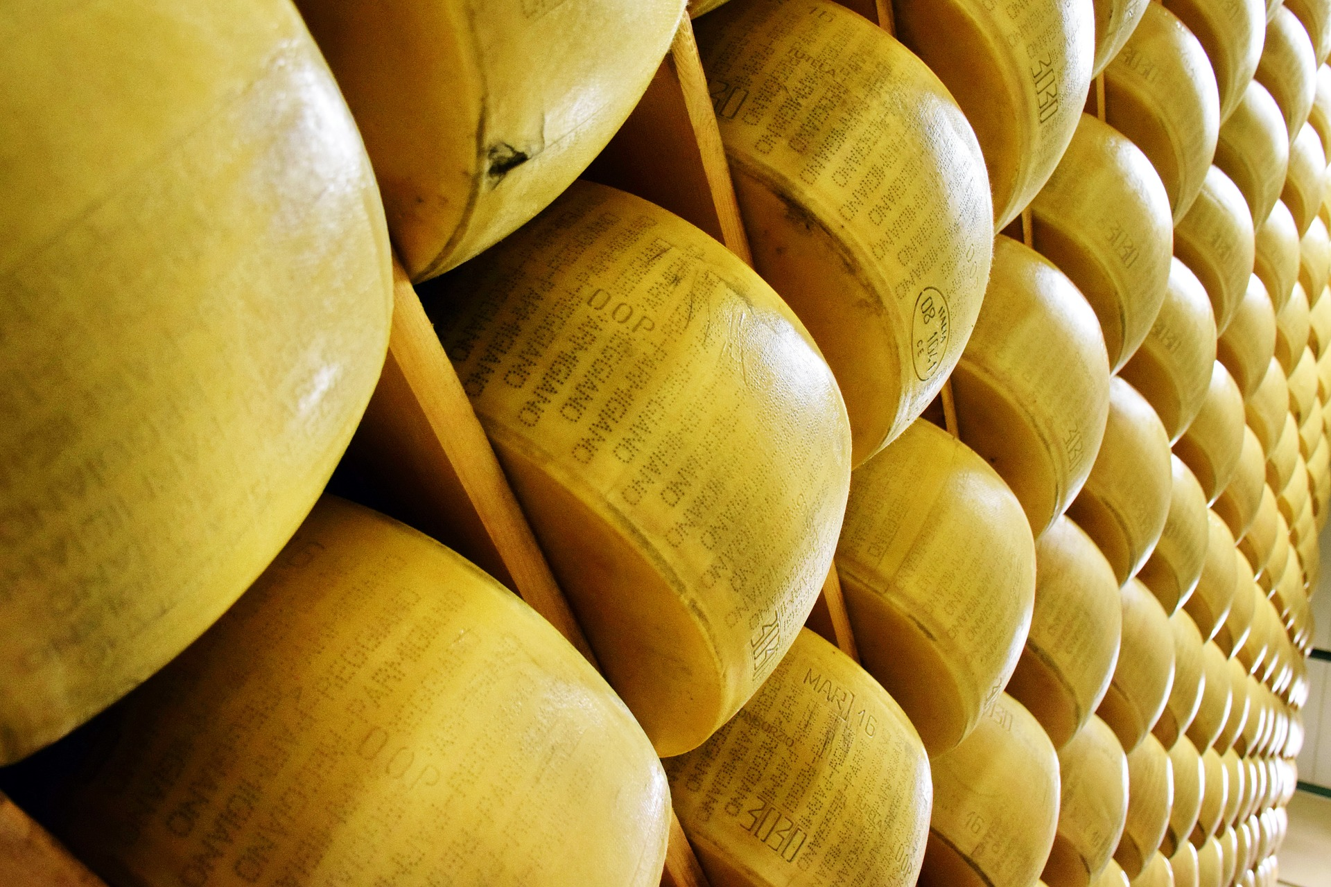 Cheese wheels made near our luxury hotels, Umbria.