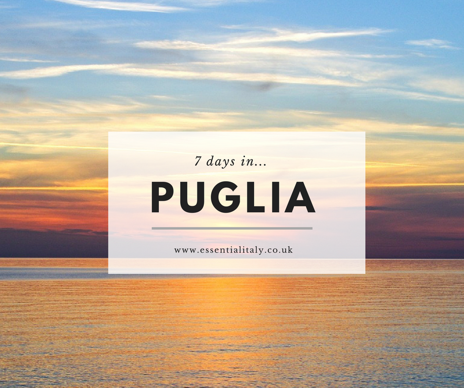 7 days in puglia blog graphic
